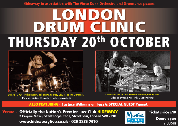 London Drum Clinic 20th October